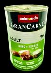 Animonda Gran Carno Adult wołowina i jeleń z jabłkiem 400g.