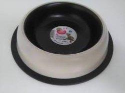Miska na gumie malowana beżowo/brązowa 0,9L