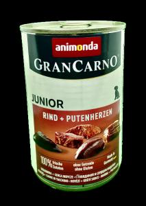 Animonda Gran Carno Junior wołowina z sercami indyczymi 400g.