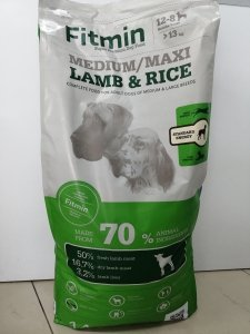 Fitmin dog medium/maxi lamb&rice 14kg