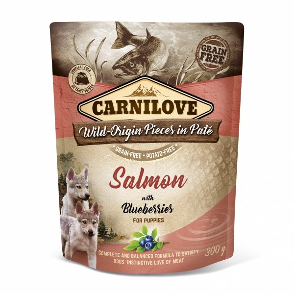 CARNILOVE DOG POUCH SALMON&BLUEBERRIES PUPPIES 300g