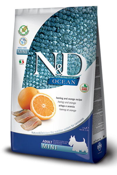 Farmina N&D Grain free Fish & Orange Adult Mini 800g