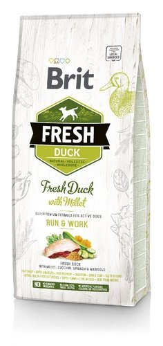 Brit Fresh Duck with Millet 12kg Promocyjna cena!
