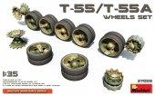 MiniArt 37058 T-55/T-55A WHEELS SET (1:35)