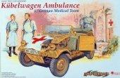 Dragon 6336 Kubelwagen Ambulance w/German Medical Team