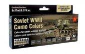 Vallejo 71188 Soviet WWII Vehicles Camo Colors 8x17 ml.