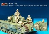 Hobby Fan HF592 British Infantry riding with Churchill tank (II)-2FIGURES