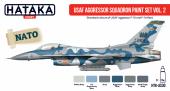 Hataka HTK-AS30 USAF Aggressor Squadron paint set vol. 2