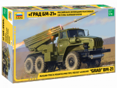 Zvezda 3655 Multiple Rocket Launcher BM-21 Grad 1/35