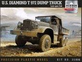 Mirror Model 35806 U.S. Diamond T 972 Dump Truck Late open Cab 1/35