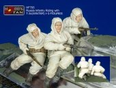 Hobby Fan HF705 Russia Infantry Riding with T-34(WINTER) I -3 FIGURES