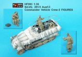 Hobby Fan HF593 Sd.kfz. 251/C Ausf. C commander Vehicle Crew-2 FIGURES