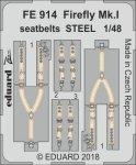 Eduard FE914 Firefly Mk. I seatbelts STEEL TRUMPETER 1/48