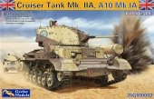 Gecko Models 35GM002 CRUISER TANK MK.II A,A10 MK.IA WITH INTERIOR (1:35)
