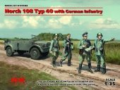 ICM 35504 Horch 108 Typ 40 with German Infantry (1:35)