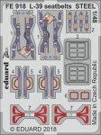 Eduard FE918 L-39 seatbelts STEEL EDUARD, SPECIAL HOBBY 1/48