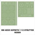 Montex MM48505 Sopwitch 1-Strutter RODEN 402 1/48