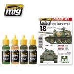 AMMO of Mig Jimenez 7152 PLA (Chinese People's Liberation Army) vehicles - Acrylic Smart Set (4x17ml)