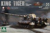 Takom 2047 KING Tiger Pz.ABT.505 Sd.Kfz.182 HENSCHEL TURRET w/ZIMMERIT /full interior 1/35