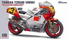 Hasegawa 21503 (BK3) YAMAHA YZR500 (0W98) 1988 WGP500 CHAMPION (1:12)