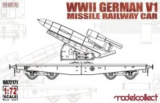 Modelcollect UA72171 WWII Germany V1 Missile Railway Car (1:72)