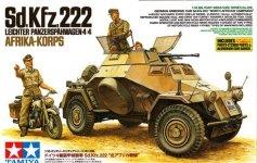 Tamiya 35286 Sd.Kfz.222 Leichter Panzerspahwagen 4x4 Afrika Korps (1:35)
