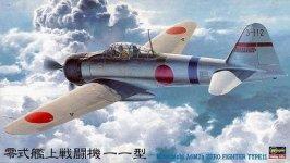 Hasegawa JT42 MITSUBISHI A6M2A Zero Fighter Type 11 1/48