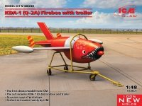 ICM 48400 Q-2A (AQM-34B) Firebee with trailer 1/48