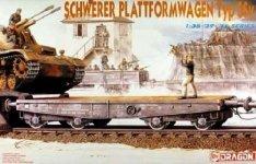 Dragon 6069 Schwerber Plattformwagen Type SSy 1/35