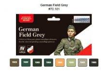 Vallejo 70181 German Field Grey Uniforms 8x17ml.