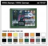 Vallejo WWII GERMAN (16 color set) (70107)