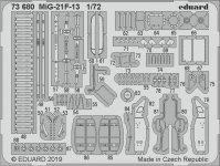 Eduard 73680 MiG-21F-13 1/72 MODELSVIT