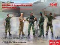 ICM 48087 US Pilots & Ground Personnel (Vietnam War) 1/48