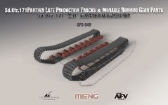 Meng Model SPS-049 Sd.Kfz.171 PANTHER LATE PRODUCTION TRACKS MOVEABLE RUNNING GEAR PARTS 1/35