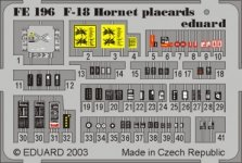Eduard FE196 F-18 placards 1:48