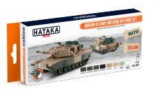 Hataka HTK-CS67 ORANGE LINE – Modern US Army and USMC AFV paint set 8x17ml