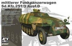 AFV Club 35S47 Sdkfz.251/3 ausf.D Mittelrer Funkpanzerwagen (1:35)