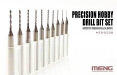 Meng Model MTS-023A Precision Hobby Drill Bit Set (0.4 - 1.3 mm)