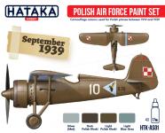 Hataka HTK-AS01 Polish Air Force paint set 4x17ml