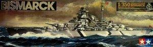 Tamiya 78013 German Battleship Bismarck (1:350)