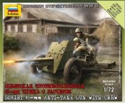 Zvezda 6112 Soviet 45mm AT Gun (1:72)