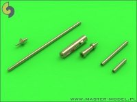 Master AM-48-089 MiG-15 & MiG-15bis - gun barrels set, antenna base & Pitot Tube (1:48)
