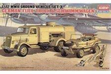 Academy 13401 German Fuel Truck /Schwimmwagen WWII Ground Vehicle 1/72