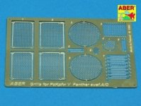 Aber 35G01 Grilles for german tank Grilles for PzKpfw V Ausf.A/D Panther (Sd.Kfz.181) (1:35)