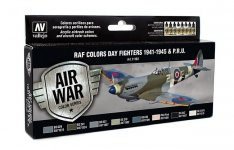 Vallejo 71162 RAF Colors Day Fighters 1941-1945 & P.R.U.