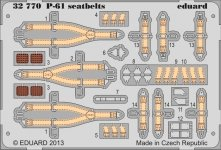 Eduard 32770 P-61 seatbelts 1/32 Hobby Boss