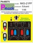 P-Mask PK48075 MIG-21PF (EDUARD) (1:48)