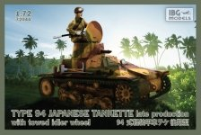 IBG 72044 TYPE 94 Japanese Tankette - late production with towed idler wheel 1/72
