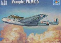 Trumpeter 02875 Vampire FB.MK.9 (1:48)