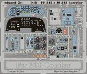 Eduard FE342 Fw 200 Condor interior 1/48 Trumpeter